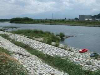 犀川とカヌー