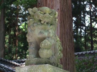 波多神社 狛犬