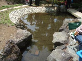 上波田公園 池