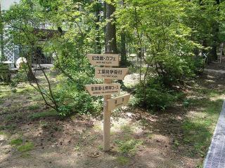 健康の森内、誘導サイン