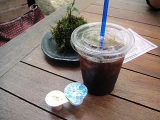 養命酒健康の森カフェのアイスコーヒー
