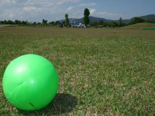 南部公園芝生広場とボール