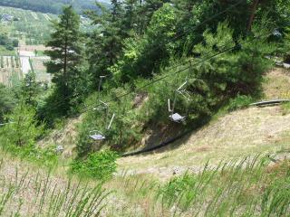 室山アグリパーク リフト(上から見たとこ)