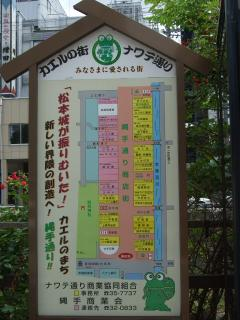 縄手通り商店街の地図