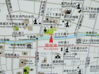 縄手通り 周辺地図