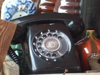 縄手通り 黒電話