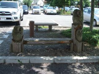 スワンドーム ふくろうのベンチ