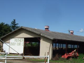 北アルプス牧場 牛舎
