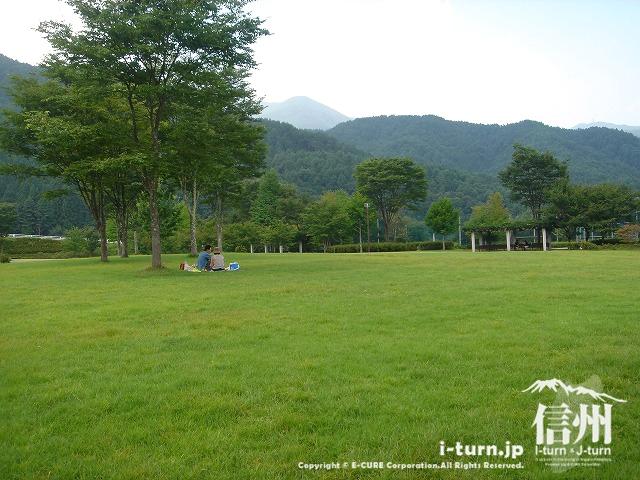 鳩吹公園の芝エリアは休憩やピクニック可能