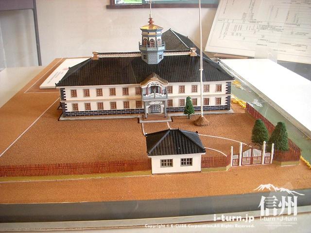 旧開智学校のミニチュア模型