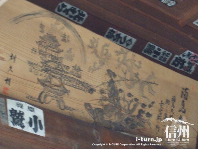 中には浦島太郎の絵