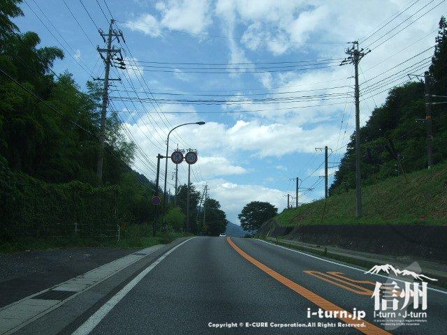 国道19号 小野の滝付近