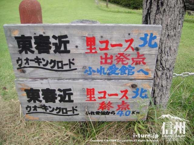 三峰川榛原河川公園 ウォーキングロード起点看板