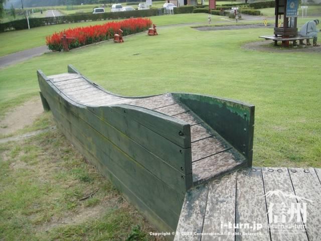 三峰川榛原河川公園 凸凹スロープ