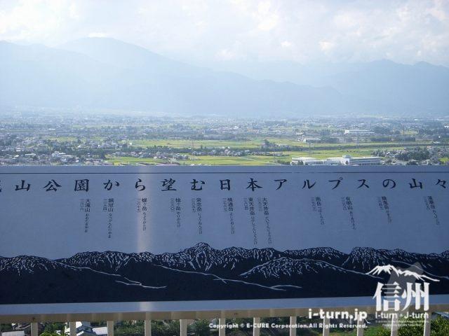 北アルプスの展望台|松本城山公園|松本市