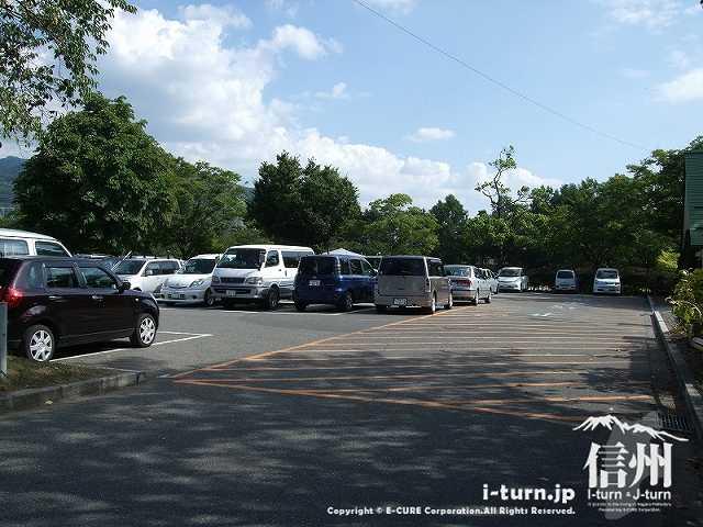 あがたの森公園の駐車場大