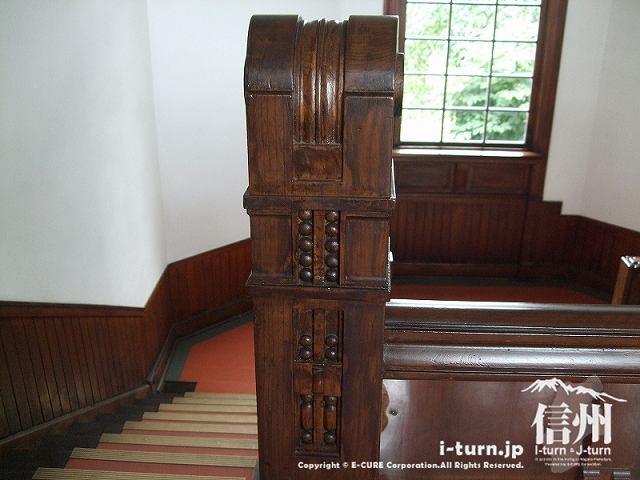 階段の柱のデザイン