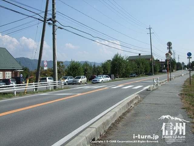 ピッコラーナ前の道路