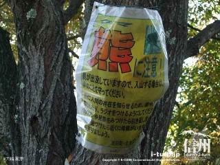 大峰高原 熊に注意