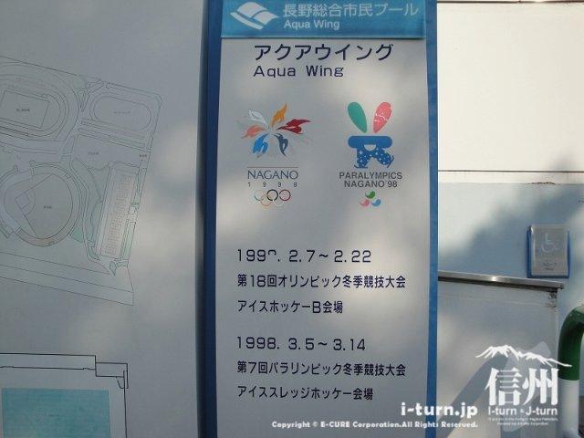 長野オリンピックのアイスホッケーとパラリンピックの案内
