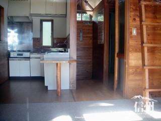 ログハウスにはキッチンがある