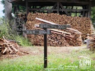 木製の道路案内