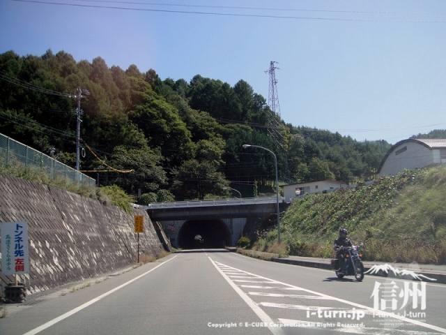 大明神釣堀センター 国道152号から白山トンネル