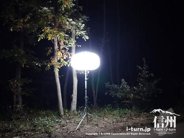 アルプスあかりの森 おっきなライト