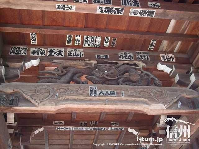 東光寺 三門の天井