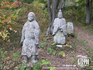 旧国鉄篠ノ井線廃線敷 善覚様と覚明様