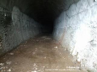 旧国鉄篠ノ井線廃線敷 三五山トンネルの内部