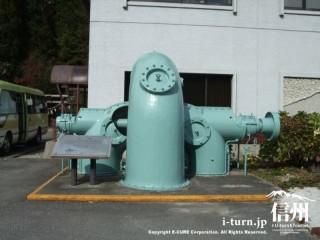 横軸二輪複流渦巻二連フランシス水車の展示品