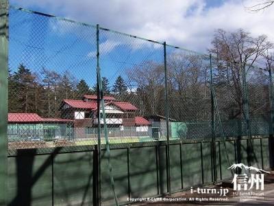 軽井沢会テニスコートクラブハウス 全景1