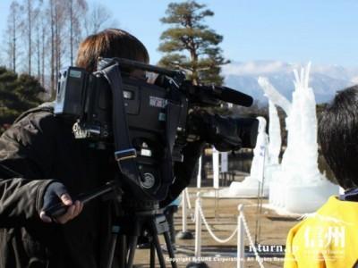 テレビ信州のカメラマン