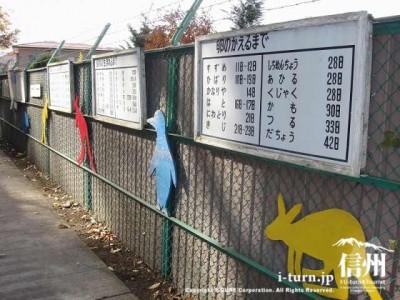 須坂市動物園の通路には動物の雑学
