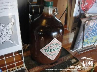 タバスコのお化け瓶がありました