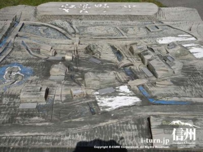 ボロボロ木製立体マップ