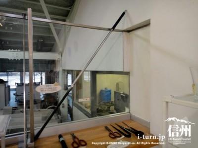 ガラス制作に使用する道具