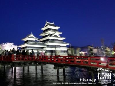 理の橋と松本城