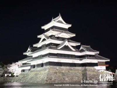 南西からみた松本城
