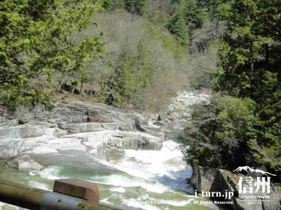 キレイな川が横を流れます