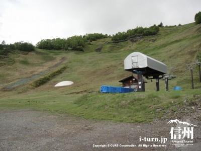 6月の乗鞍高原温泉スキー場