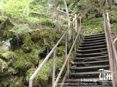 休暇村方面に上る階段
