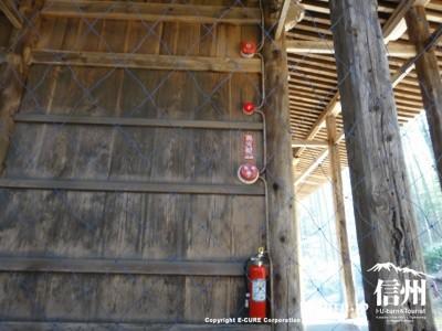 火災報知機と消火器