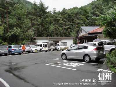 第二駐車場(桧の湯の正面)