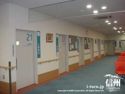 診察室が並んでいます