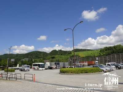 道の駅蔦木宿の駐車場