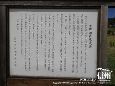 史跡井戸尻遺跡の説明書き