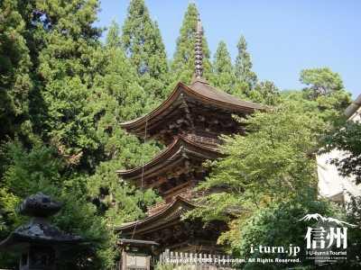 新海三社神社の三重の塔
