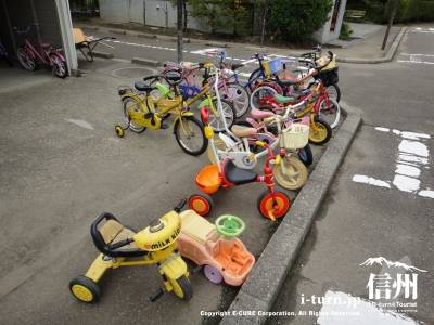 三輪車や自転車のレンタル
